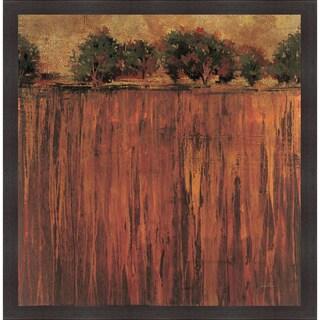 Liz Jardine 'Horizon Line with Trees II' Framed Artwork