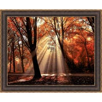 Lars Van de Goor 'Dressed To Shine' Framed Artwork - Red