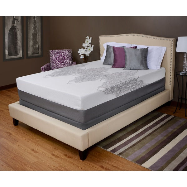 Rossmore deluxe 13 inch full size memory foam mattress by angelo home free shipping today Full size memory foam mattress