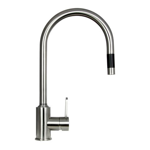 Boann 'Flor' 16.7-inch Stainless Steel Pull-down Kitchen Faucet