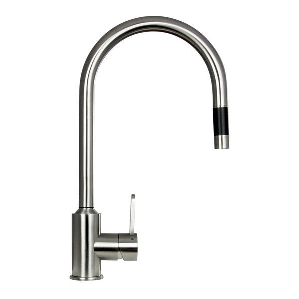 Boann Flor 16.7-inch Stainless Steel Pull-down Kitchen Faucet - Fre...