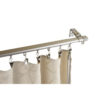 InStyleDesign Regal Nickel Finish Metal Adjustable Curtain Track with Sliders (3 options available)