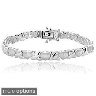 Mondevio Sterling Silver Hugs and Kisses Bracelet|https://ak1.ostkcdn.com/images/products/822756/P953293.jpg?impolicy=medium