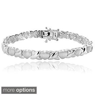 Mondevio Sterling Silver Hugs and Kisses Bracelet (2 options available)
