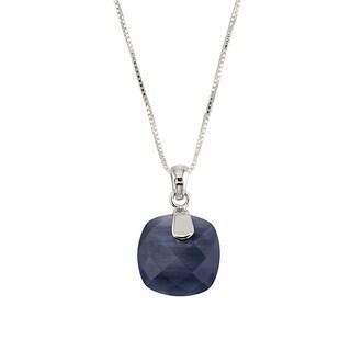 Sterling Silver Cat's Eye Obsidian 18-inch Necklace