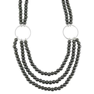 Silver Hermatite Bead Necklace