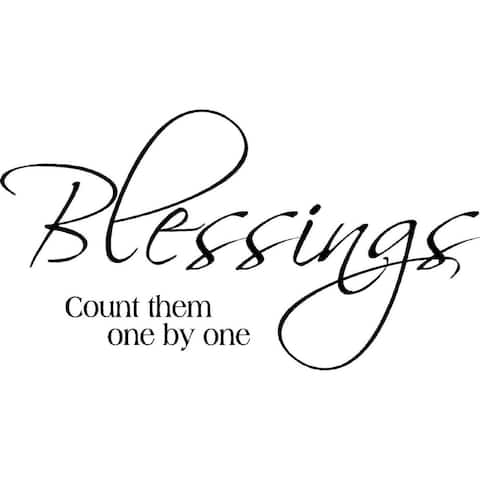'Blessings Count them One by One' Vinyl Wall Art Lettering