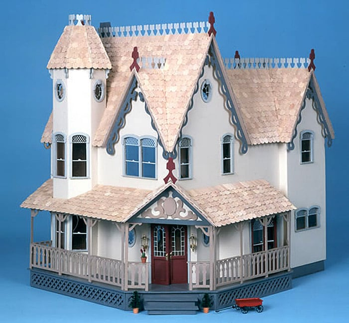 Shop The Pierce White Wood Dollhouse Kit Free Shipping