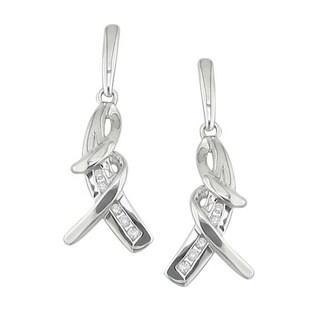 Sterling Silver 1/10ct TDW Diamond Earrings (H, I1)