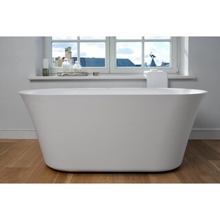 Aquatica Tulip-Wht (PureScape 701M) Freestanding Solid Surface Bathtub