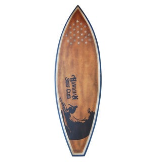 Decorative Brown Vintage Wooden Surfboard