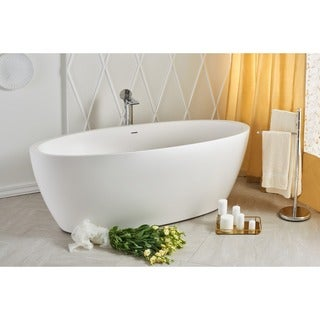 Aquatica Sensuality-Wht Freestanding Solid Surface Bathtub