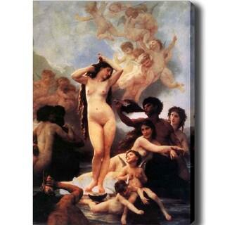 William-Adolphe Bouguereau 'Women and Angel' Canvas Art - Multi