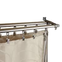InStyleDesign Regal Silver Adjustable Double Curtain Track Set
