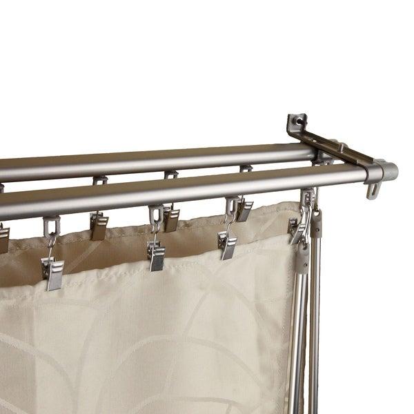 Regal Silver Adjustable Double Curtain Track Set - 15558458 ...
