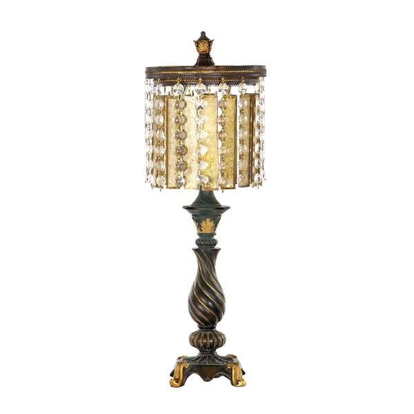 Dimond Lighting 1-light Golf Leaf and Black Table Lamp