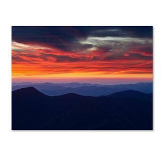Pierre Leclerc 'Mount Mitchell Sunset' Canvas Art