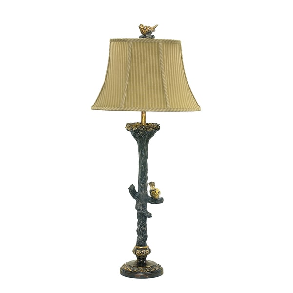 dimond lighting 1 light black and gold leaf table lamp. Black Bedroom Furniture Sets. Home Design Ideas
