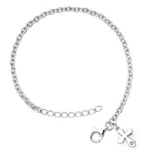 Little Diva Diamonds Girl's 925 Sterling Silver .01ct TDW Diamond Accent Cross Bracelet - White|https://ak1.ostkcdn.com/images/products/8228778/P15558516.jpg?impolicy=medium