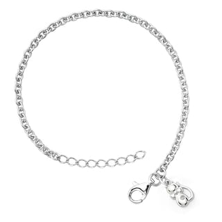 Little Diva Diamonds Silver Children's Diamond Accent Kitten Bracelet
