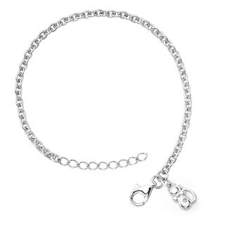 Little Diva Diamonds Girl's 925 Sterling Silver .01ct TDW Diamond Accent Kitten Bracelet
