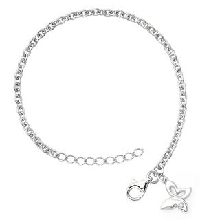 Little Diva Diamonds Silver Children's Diamond Accent Butterfly Bracelet