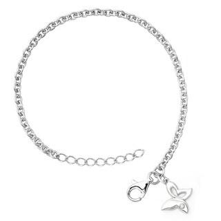 Little Diva Diamonds Girl's 925 Sterling Silver .01ct TDW Diamond Accent Butterfly Bracelet - White