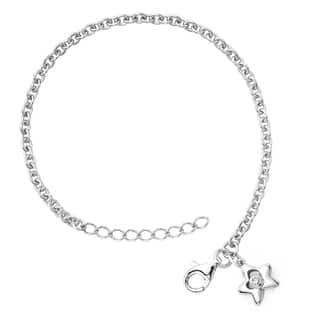 Little Diva Diamonds Girl's 925 Sterling Silver .01ct TDW Diamond Accent Star Bracelet - White|https://ak1.ostkcdn.com/images/products/8228790/P15558522.jpg?impolicy=medium