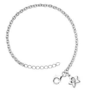 Little Diva Diamonds Girl's 925 Sterling Silver .01ct TDW Diamond Accent Star Bracelet