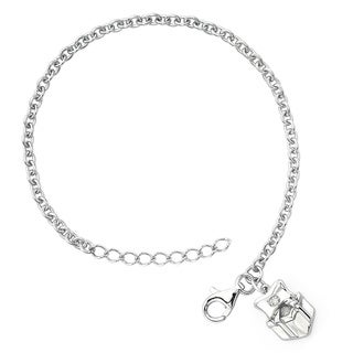 Little Diva Diamonds Girl's 925 Sterling Silver .01ct TDW Diamond Accent Present Bracelet