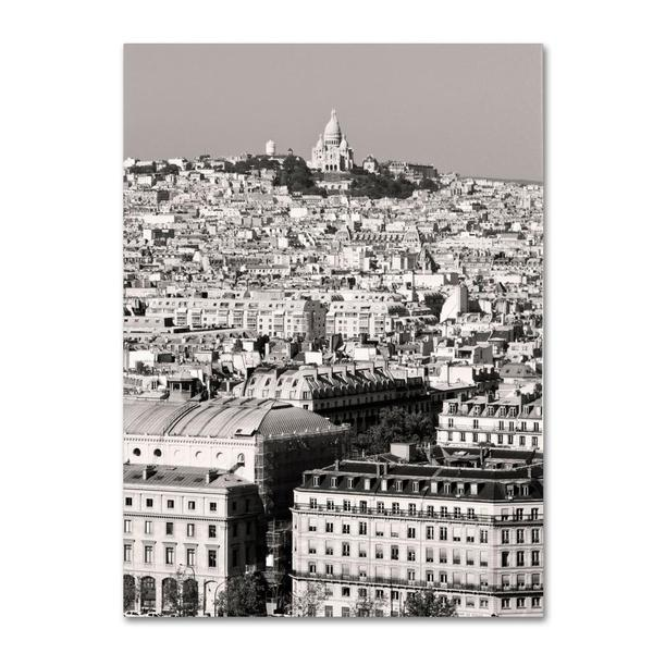 Pierre Leclerc 'Paris Montmartre' Canvas Art - Multi