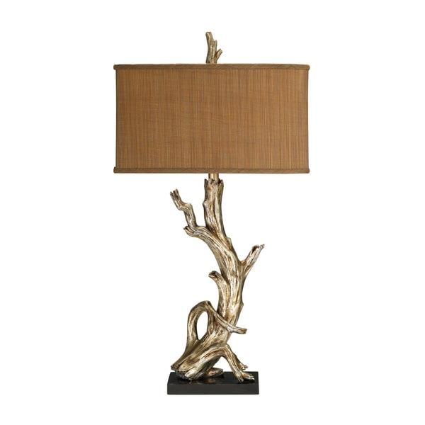 Dimond Lighting 1-light Silver Leaf Table Lamp
