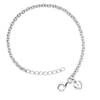 Little Diva Diamonds Silver Children's Diamond Accent Heart Bracelet