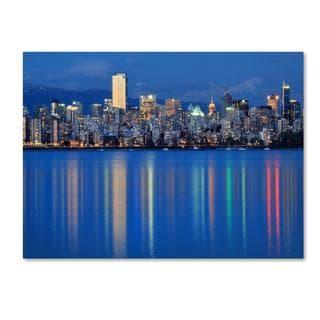 Pierre Leclerc 'Vancouver City' Canvas Art