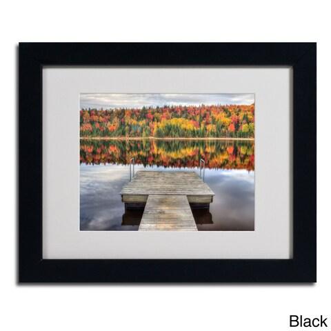 Pierre Leclerc 'Autumn' Framed Matted Art