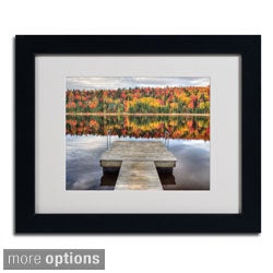Pierre Leclerc 'Autumn' Framed Matted Art