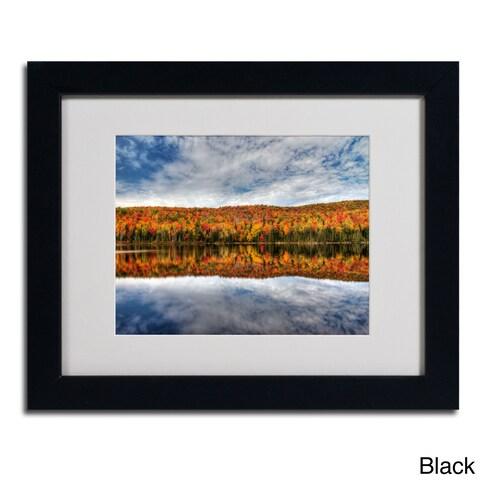 Pierre Leclerc 'Autumn Reflection' Framed Matted Art