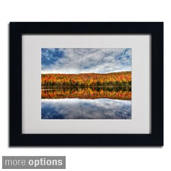 Pierre Leclerc 'Autumn Reflection' Framed Matted Art