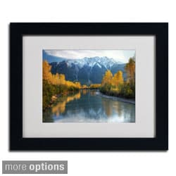 Pierre Leclerc 'Autumn River' Framed Matted Art