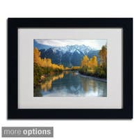 Pierre Leclerc 'Autumn River' Framed Matted Art