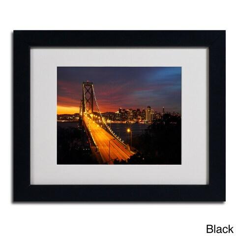 Pierre Leclerc 'Bay Bridge' Framed Matted Art