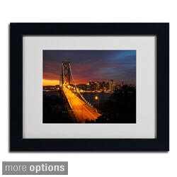 Pierre Leclerc 'Bay Bridge' Framed Matted Art
