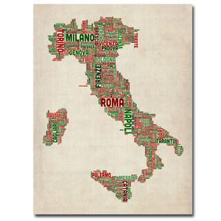 Michael Tompsett 'Italy I' Canavs Art - Brown