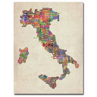 Michael Tompsett 'Italy II' Canavs Art