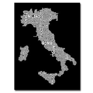 Michael Tompsett 'Italy City Map I' Canavs Art