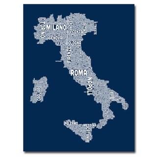 Michael Tompsett 'Italy City Map II' Canavs Art
