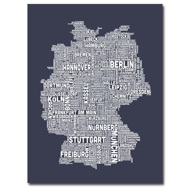 Map Of Germany For Sale.Michael Tompsett Germany City Map Ii Canavs Art Multi
