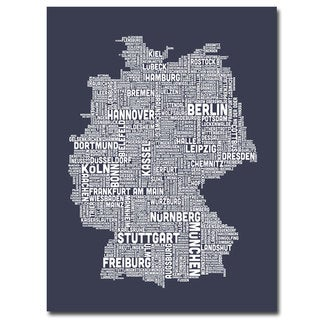 Michael Tompsett 'Germany City Map II' Canavs Art