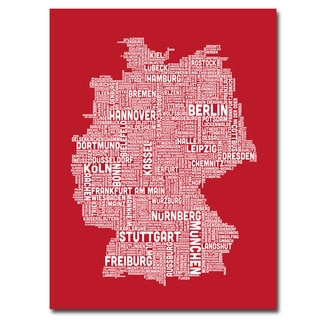 Michael Tompsett 'Germany City Map I' Canavs Art