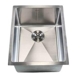 "16"" Undermount Stainless Steel Kitchen Bar Sink 15mm Radius"